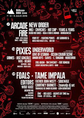 Cancelado Viaje al Bilbao BBK Live 2016