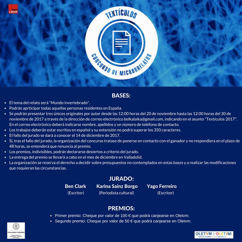 Concurso de microrrelatos: Textículos 2017